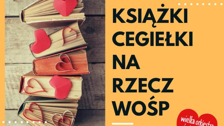 Plakat Książki cegiełki na rzecz WOŚP