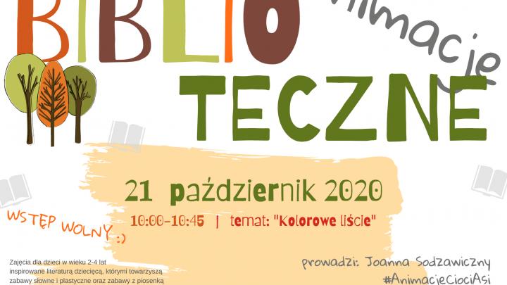 Biblioteczne Animacje październik 2020 plakat