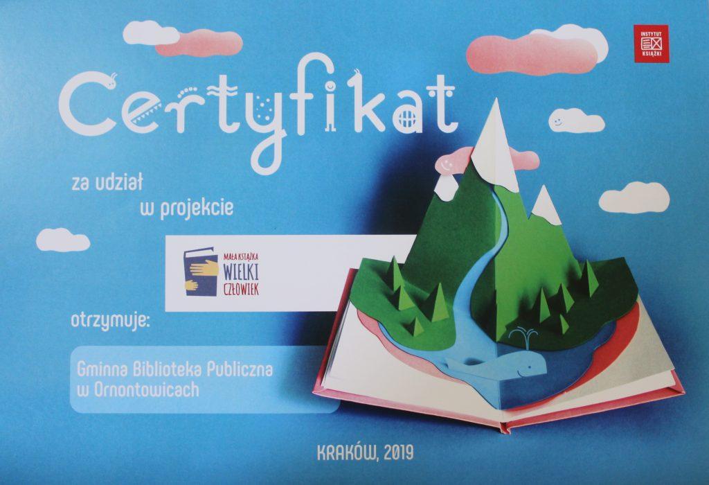 Certyfikat Mała Książka Wielki Człowiek 2019